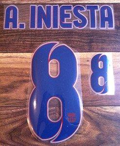 ANDRES INIESTA 6 BARCELONA AWAY 2013 2014 NAME NUMBER SET NAMESET KIT PRINT