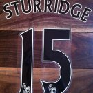 DANIEL STURRIDGE 15 LIVERPOOL AWAY 2013 2014 NAME NUMBER SET NAMESET KIT PRINT