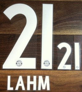 LAHM 21 BAYERN MUNICH MUNCHEN 2013 2014 NAME NUMBER SET NAMESET KIT PRINT FLOCK