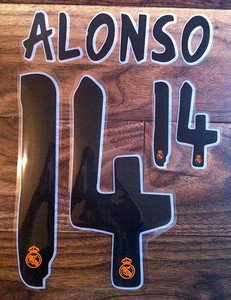 XABI ALONSO 14 REAL MADRID HOME 2013 2014 NAME NUMBER SET NAMESET KIT PRINT