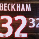 DAVID BECKHAM 32 PARIS SAINT GERMAIN 2013 2014 NAME NUMBER SET NAMESET KIT PRINT