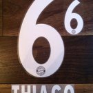 THIAGO 6 BAYERN MUNICH MUNCHEN 2013 2014 NAME NUMBER SET NAMESET KIT PRINT FLOCK