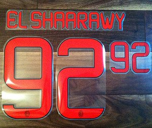 EL SHAARAWY 92 AC MILAN AWAY 2013 2014 NAME NUMBER SET NAMESET KIT PRINT
