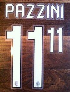 GIAMPAOLO PAZZINI 11 AC MILAN HOME 2013 2014 NAME NUMBER SET NAMESET KIT PRINT