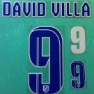 DAVID VILLA 9 ATLETICO MADRID 2013 2014 NAME NUMBER SET NAMESET KIT PRINT