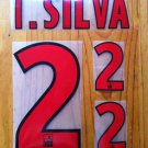 THIAGO SILVA 2 PARIS SAINT GERMAIN PSG 2013 2014 AWAY SET NAMESET KIT PRINT