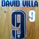 DAVID VILLA 9 ATLETICO MADRID 2013 2014 AWAY NAME NUMBER SET NAMESET KIT PRINT
