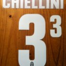 GIORGIO CHIELLINI 3 JUVENTUS HOME 2013 2014 NAME NUMBER SET NAMESET PRINT