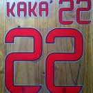 RICARDO KAKA' 22 AC MILAN AWAY 2013 2014 NAME NUMBER SET NAMESET KIT PRINT