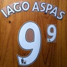 IAGO ASPAS 9 LIVERPOOL WHITE HOME 2013 2014 NAME NUMBER SET NAMESET KIT PRINT