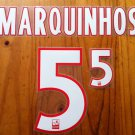 MARQUINHOS 5 PARIS SAINT GERMAIN HOME 2013 2014 NAME NUMBER SET NAMESET PRINT