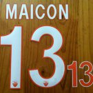 MAICON 13 AS ROMA HOME 2013 2014 NAME NUMBER SET NAMESET KIT PRINT