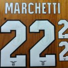 FEDERICO MARCHETTI 22 SS LAZIO HOME 2013 2014 NAME NUMBER SET NAMESET KIT PRINT