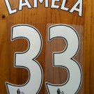 ERIK LAMELA 33 TOTTENHAM THIRD 2013 2014 NAME NUMBER SET NAMESET PRINT
