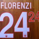 ALESSANDRO FLORENZI 24 AS ROMA HOME 2013 2014 NAME NUMBER SET NAMESET KIT PRINT