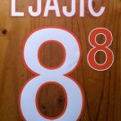 ADEM LJAJIC' 8 AS ROMA HOME 2013 2014 NAME NUMBER SET NAMESET KIT PRINT