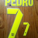 PEDRO 7 BARCELONA HOME 2013 2014 NAME NUMBER SET NAMESET KIT PRINT FOOTBALL