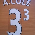 ASHLEY COLE 3 CHELSEA HOME 2013 2014 NAME NUMBER SET NAMESET KIT PRINT FOOTBALL