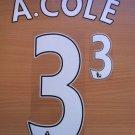 ASHLEY COLE 3 CHELSEA HOME 2013 2014 NAME NUMBER SET NAMESET KIT PRINT FOOTBALL