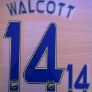 WALCOTT 14 ARSENAL CHAMPIONS AWAY 2013 2014 NAME NUMBER SET NAMESET KIT PRINT