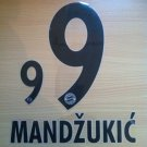 MANDZUKIC 9 BAYERN MUNICH AWAY 2013 2014 NAME NUMBER SET NAMESET KIT PRINT FLOCK