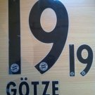 GOTZE 19 BAYERN MUNICH AWAY 2013 2014 NAME NUMBER SET NAMESET KIT PRINT FLOCK