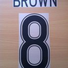 BROWN 8 CELTIC HOME UCL 2009 2012 NAME NUMBER SET NAMESET KIT PRINT NUMBERING
