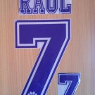 RAUL BLANCO 7 REAL MADRID HOME 1996 1998 NAME NUMBER SET NAMESET KIT PRINT RETRO