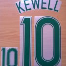 KEWELL 10 AUSTRALIA 2006 2008 NAME NUMBER SET NAMESET KIT PRINT NUMBERING