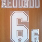 REDONDO 6 REAL MADRID AWAY 1996 1998 NAME NUMBER SET NAMESET KIT PRINT RETRO