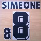 SIMEONE 8 ARGENTINA HOME WORLD CUP 1998 NAME NUMBER SET NAMESET KIT PRINT