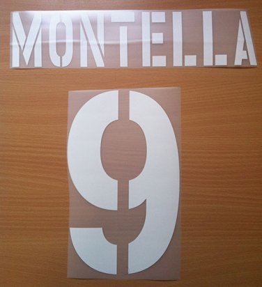 MONTELLA 9 AS ROMA HOME 2003 2004 NAME NUMBER SET NAMESET KIT PRINT NUMBERING