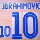 IBRAHIMOVIC' 10 SWEDEN HOME EURO CUP 2004 NAME NUMBER SET NAMESET KIT PRINT