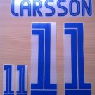LARSSON 11 SWEDEN HOME EURO CUP 2004 NAME NUMBER SET NAMESET KIT PRINT