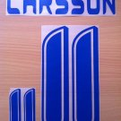 LARSSON 11 SWEDEN HOME WORLD CUP 2006 NAME NUMBER SET NAMESET KIT PRINT