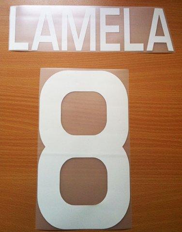 LAMELA 8 AS ROMA HOME 2011 2012 NAME NUMBER SET NAMESET KIT PRINT NUMBERING