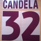 CANDELA 32 AS ROMA AWAY 2000 2002 NAME NUMBER SET NAMESET KIT PRINT NUMBERING
