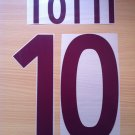 TOTTI 10 AS ROMA AWAY 2002 2003 NAME NUMBER SET NAMESET KIT PRINT NUMBERING