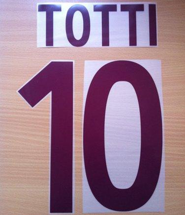 TOTTI 10 AS ROMA AWAY 2002 2003 NAME NUMBER SET NAMESET KIT PRINT NUMBERING