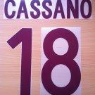CASSANO 18 AS ROMA AWAY 2002 2003 NAME NUMBER SET NAMESET KIT PRINT NUMBERING