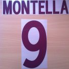 MONTELLA 9 AS ROMA AWAY 2002 2003 NAME NUMBER SET NAMESET KIT PRINT NUMBERING