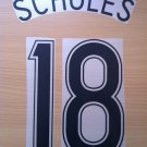SCHOLES 18 MANCHESTER UNITED AWAY 2006 2007 NAME NUMBER SET NAMESET KIT PRINT