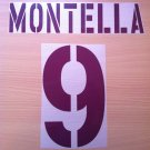 MONTELLA 9 AS ROMA AWAY 2003 2004 NAME NUMBER SET NAMESET KIT PRINT NUMBERING