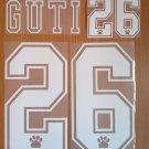 GUTI 26 REAL MADRID AWAY 1995 1996 NAME NUMBER SET NAMESET KIT PRINT RETRO