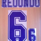 REDONDO 6 REAL MADRID HOME 1996 1998 NAME NUMBER SET NAMESET KIT PRINT RETRO