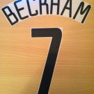 BECKHAM 7 MANCHESTER UNITED AWAY UCL 2002 2004 NAME NUMBER SET NAMESET KIT PRINT