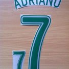 ADRIANO 7 BRAZIL HOME WORLD CUP GERMANY 2006 NAME NUMBER SET NAMESET KIT PRINT