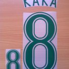 KAKA' 8 BRAZIL HOME WORLD CUP GERMANY 2006 NAME NUMBER SET NAMESET KIT PRINT