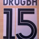 DIDIER DROGBA 15 CHELSEA AWAY UCL 2004 2006 NAME NUMBER SET NAMESET KIT PRINT