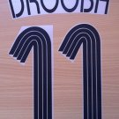 DROGBA 11 CHELSEA AWAY THIRD UCL 2006 2008 NAME NUMBER SET NAMESET KIT PRINT